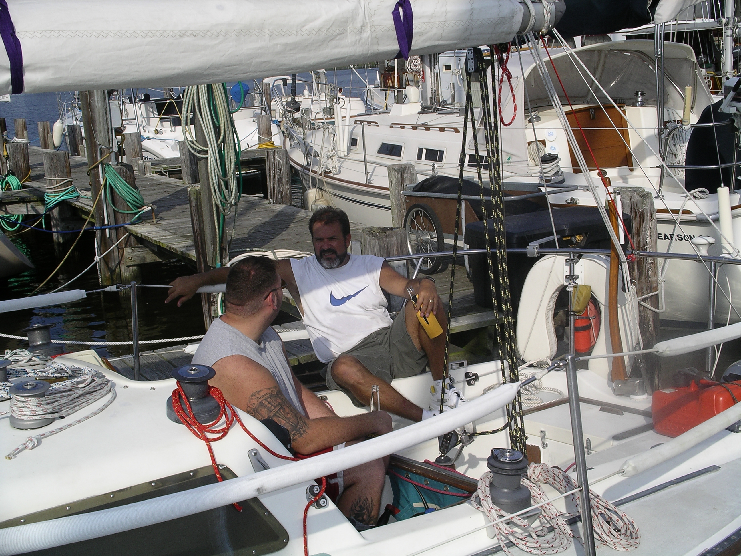 See backstay and new winches